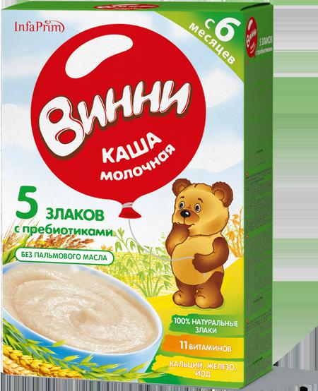 Молочные каши «Нутрилак» (Винни): описание, ассортимент